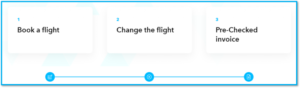 Simplified invoicing when booking seaman flights